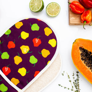 DOUBLE OVEN GLOVE SCOTCH BONNET PEPPER PLUM