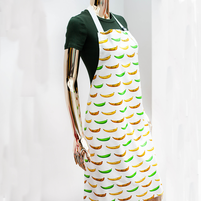 APRON PLANTAIN WHITE