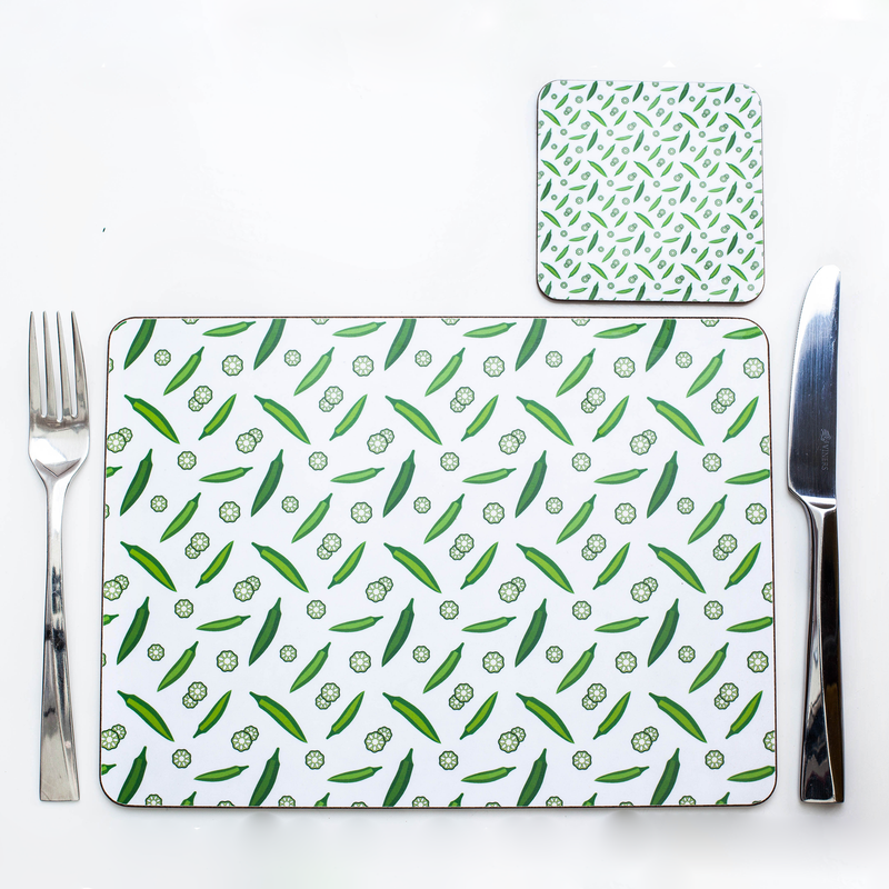 4  OKRA PLACEMATS & COASTERS