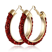 Load image into Gallery viewer, IPARAM 2020 New Big Circle Round Hoop Earrings for Women's Fashion Statement Golden Punk Charm Earrings Party Jewelry
