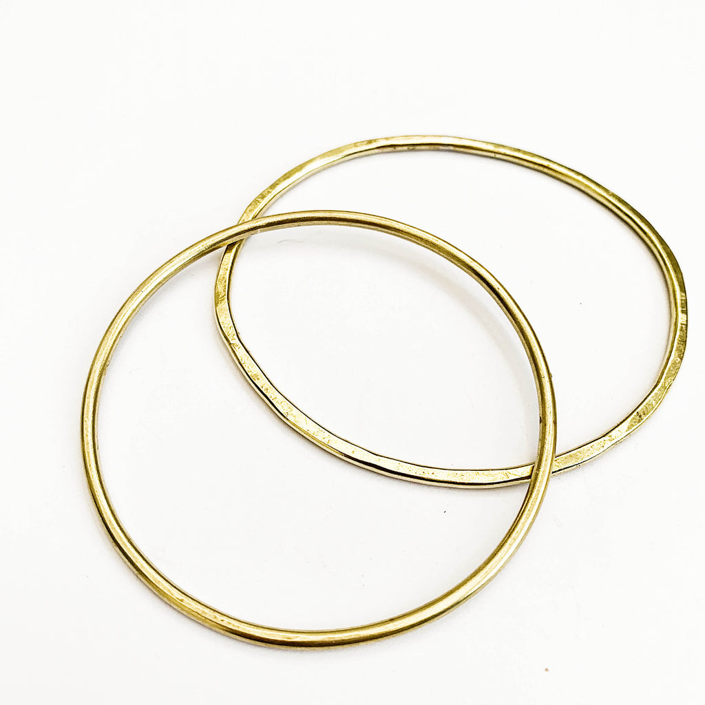 Raw Brass Sun Bangle