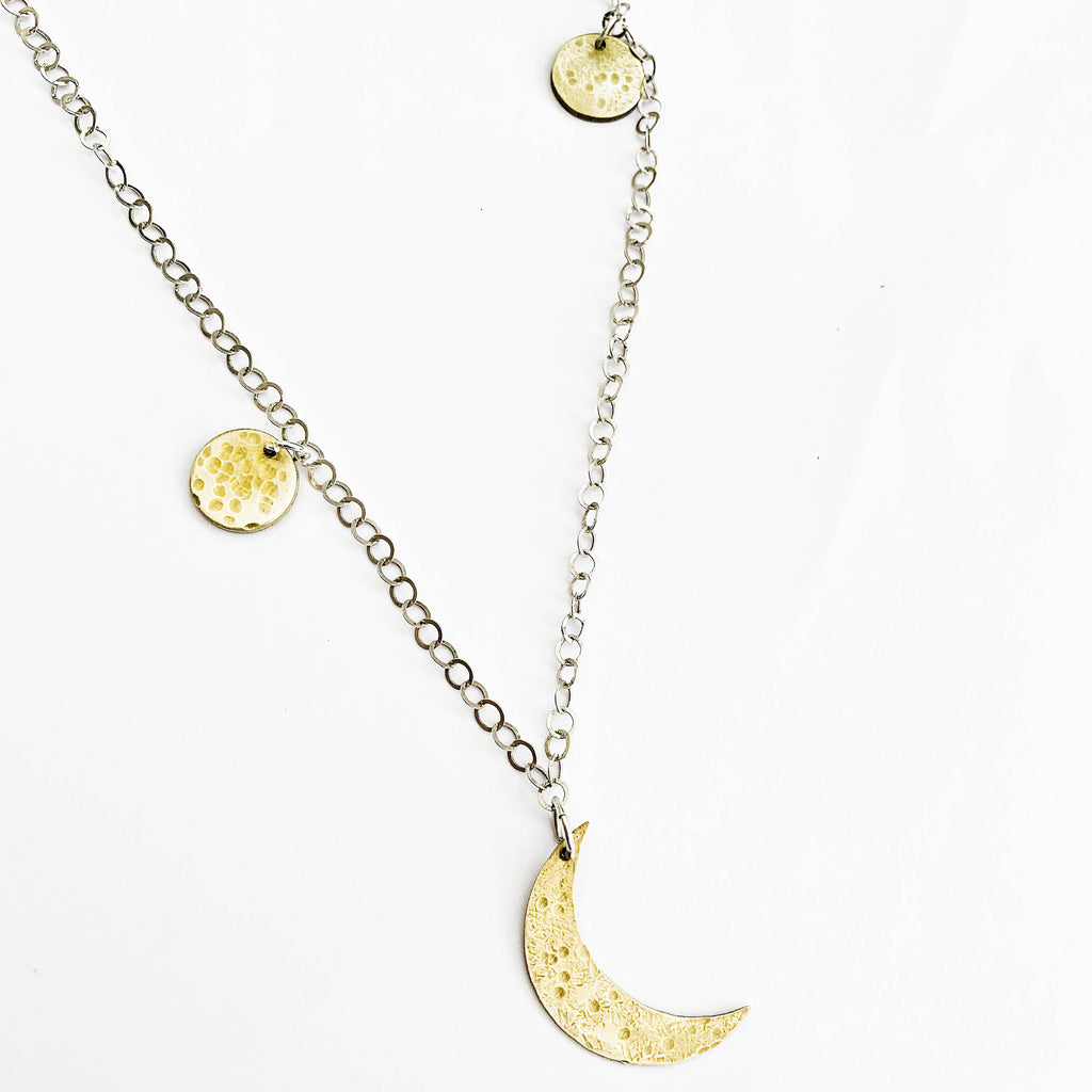 Dusty-Moon Necklace