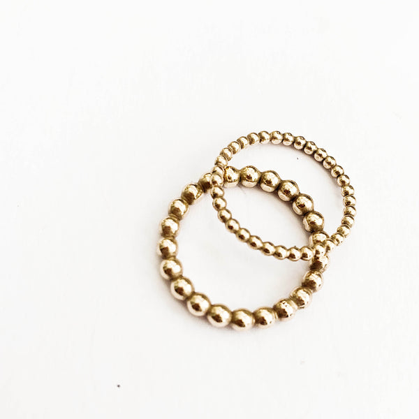 Rolled Gold Beaded Rings