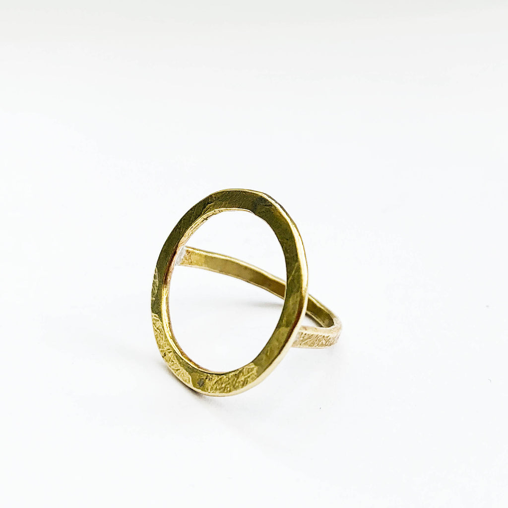 Raw Brass Halo Ring