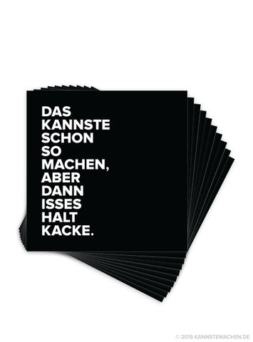 Sticker Schwarz (10er Set)