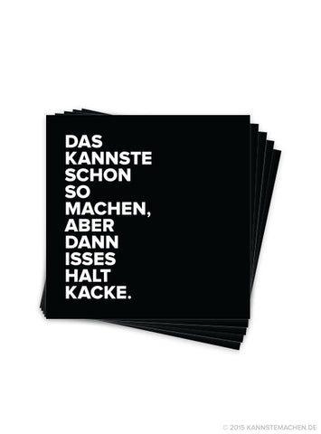 Sticker Schwarz (5er Set)