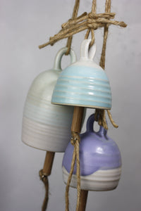 Small Blue Ceramic Bell Hand thrown pottery