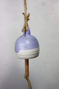 Purple Bell Ceramic Bell Hand thrown pottery