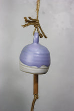 Load image into Gallery viewer, Purple Bell Ceramic Bell Hand thrown pottery
