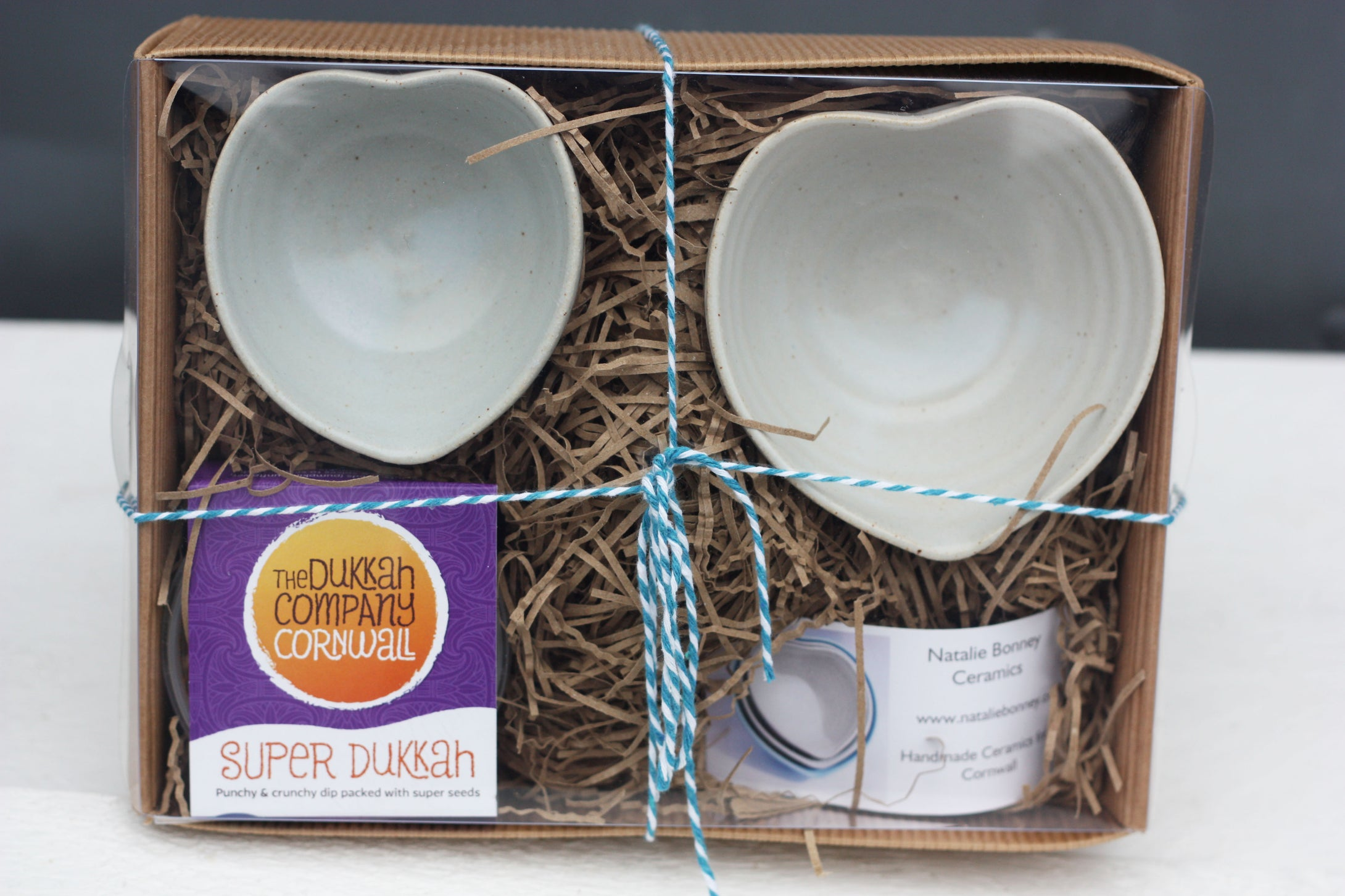 Vegan Dukkah Dipping Set with two Heart Dishes