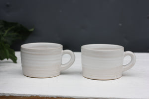 8oz 250ml Ceramic Mug in White glaze