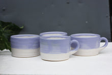 Load image into Gallery viewer, 8oz 250ml Ceramic Mug in White with Purple glaze