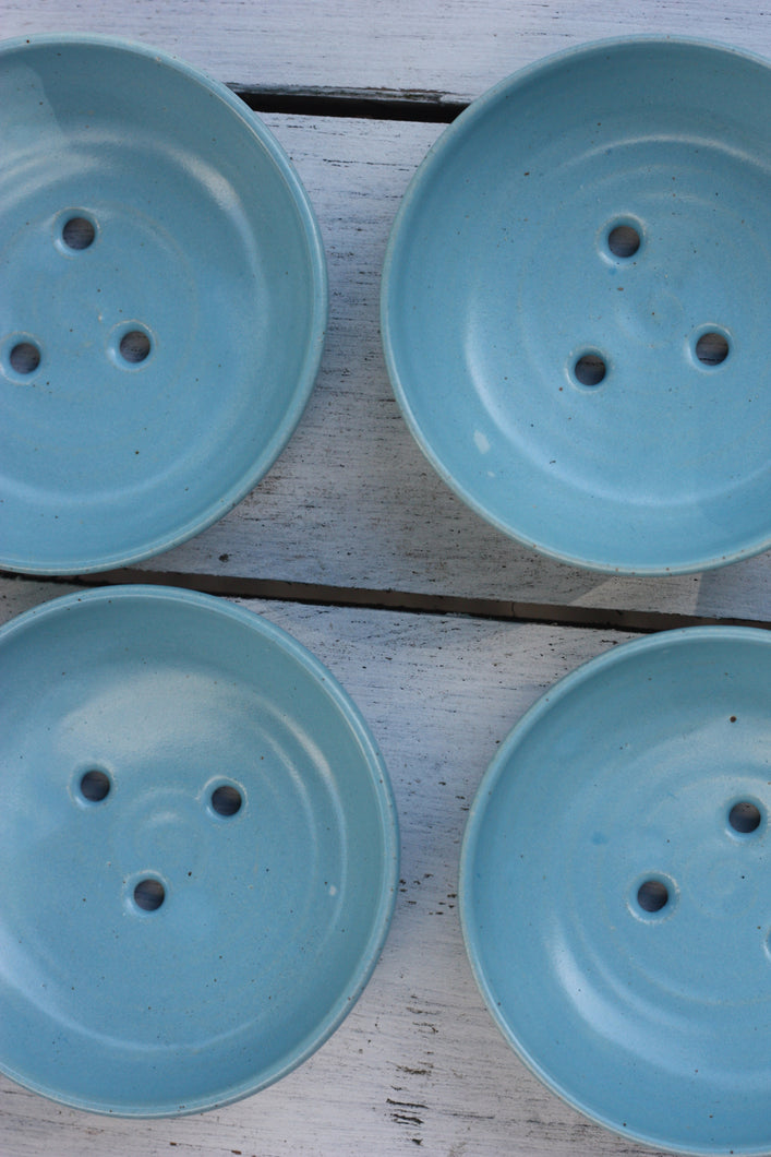 Soap Dish in Turquoise Glaze
