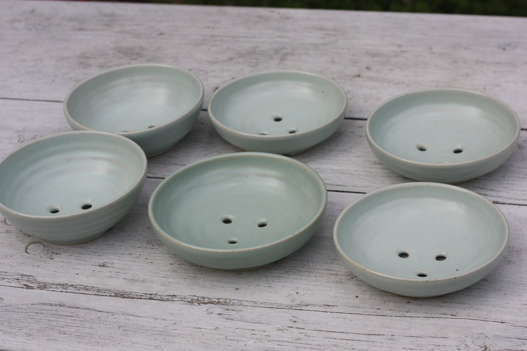 Soap Dish in Pale Green Celadon Glaze
