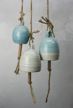 Load image into Gallery viewer, Small Blue Ceramic Bell Hand thrown pottery