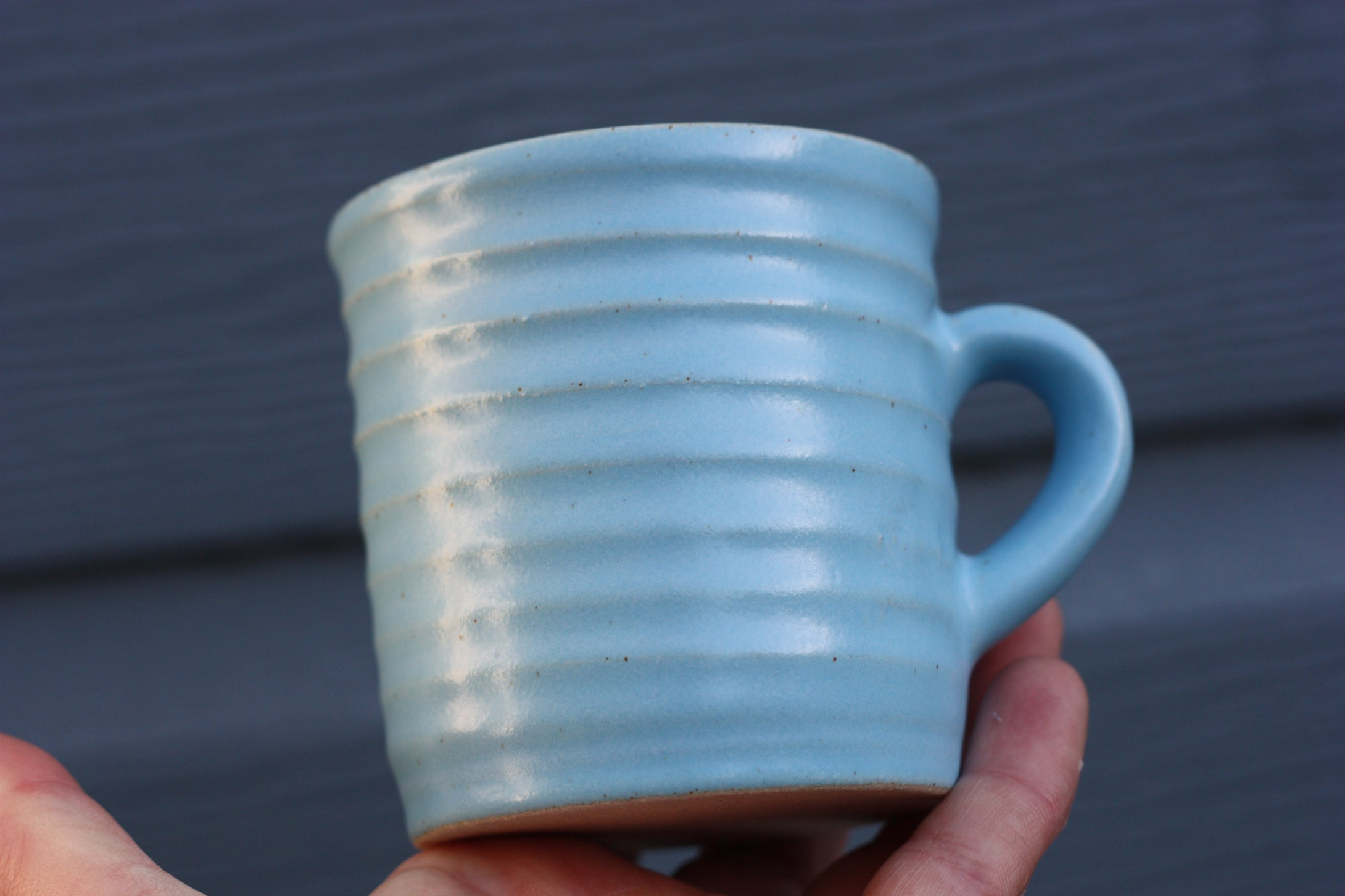 Small Mug 250ml 8 oz in Turquoise glaze handmade pottery ceramic cup beaker