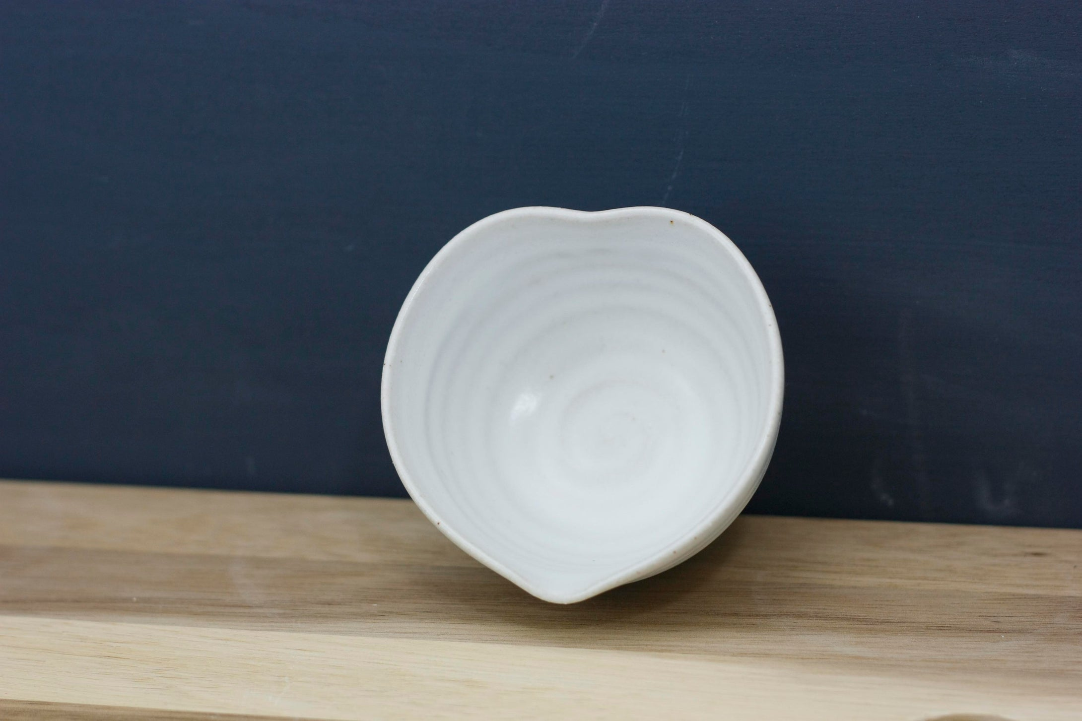 Heart Dish Small Gift Wrapped and Boxed White Stoneware  ..Wheel thrown pot