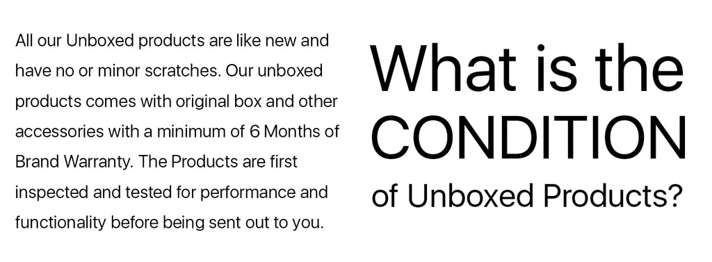 Grabgear Unboxed Products Condition