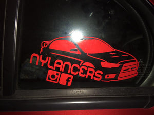 NY Lancers Third Window Sticker