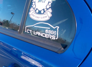 CT Lancers Third Window Sticker