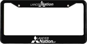 LancerNation GT License Plate Frame