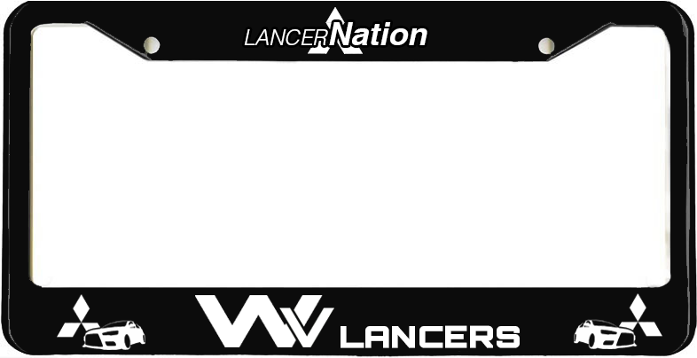 WV Lancers License Plate Frame