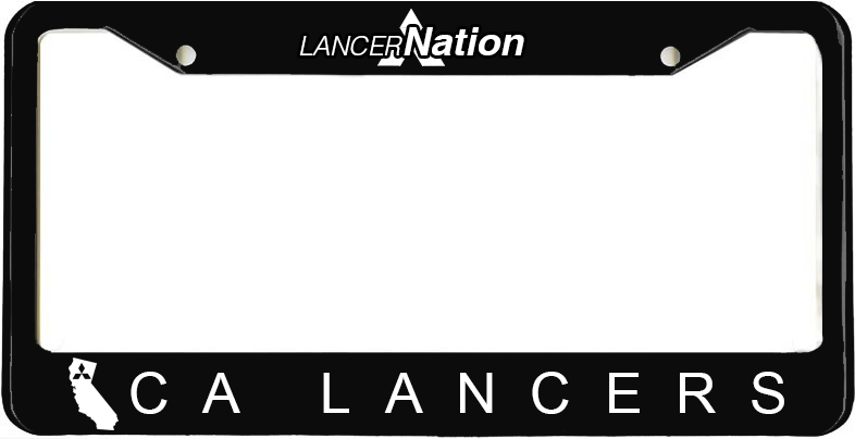 CA Lancers License Plate Frame