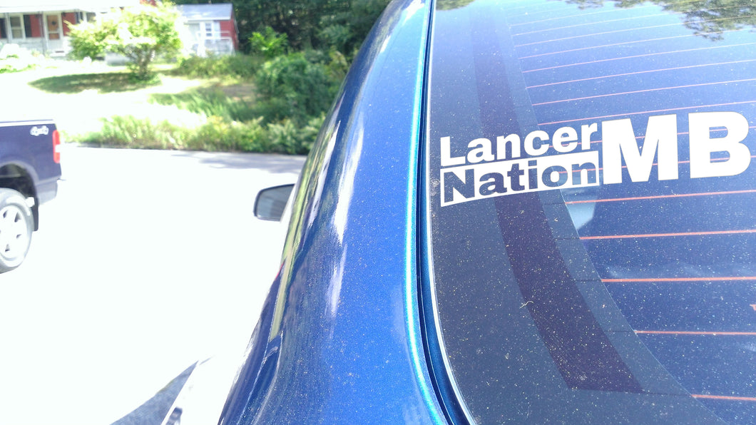 MB Lancers (Canada) Third Window Sticker