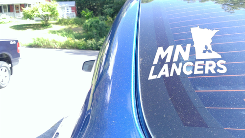 MN Lancers Third Window Figure Sticker