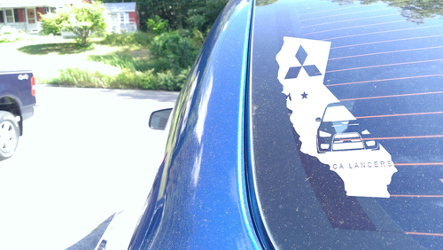 CA Lancers Third Window Sticker