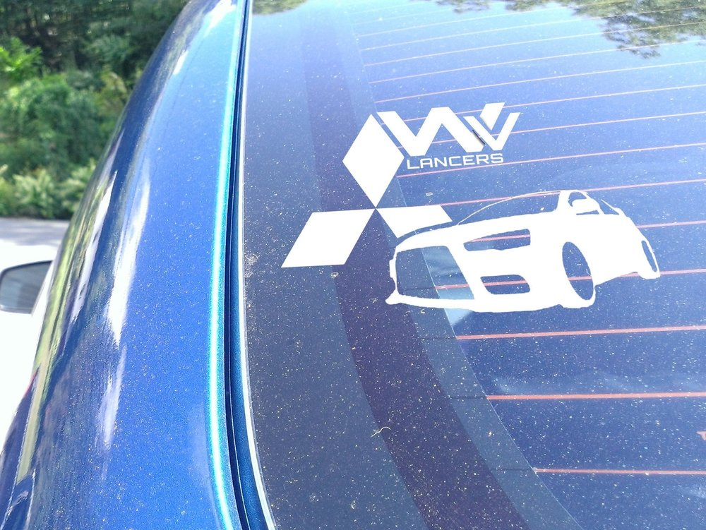 WV Lancers Third Window Sticker