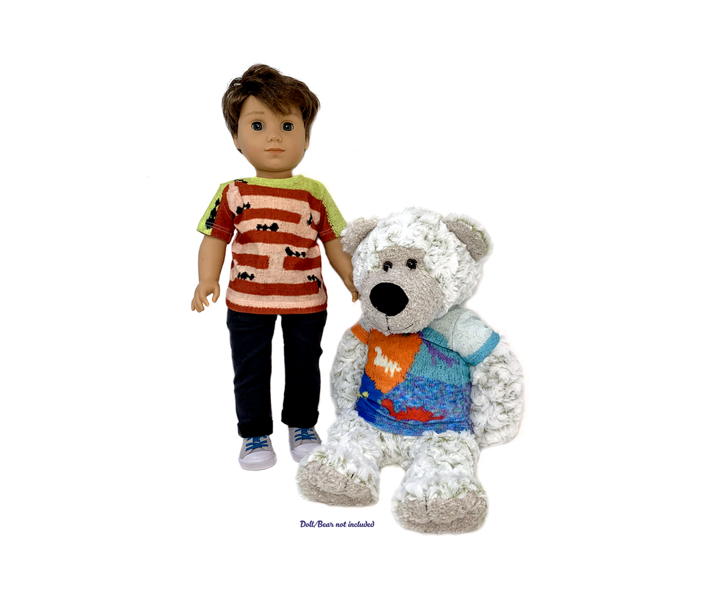 "🧸 18"" Doll-sized T-shirt (doll/bear not included)"