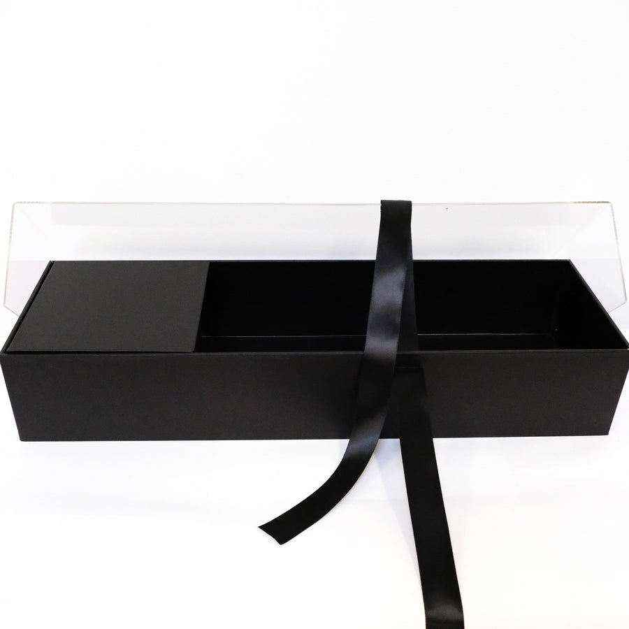 Luxury Long Flower Box with Acrylic Cover
