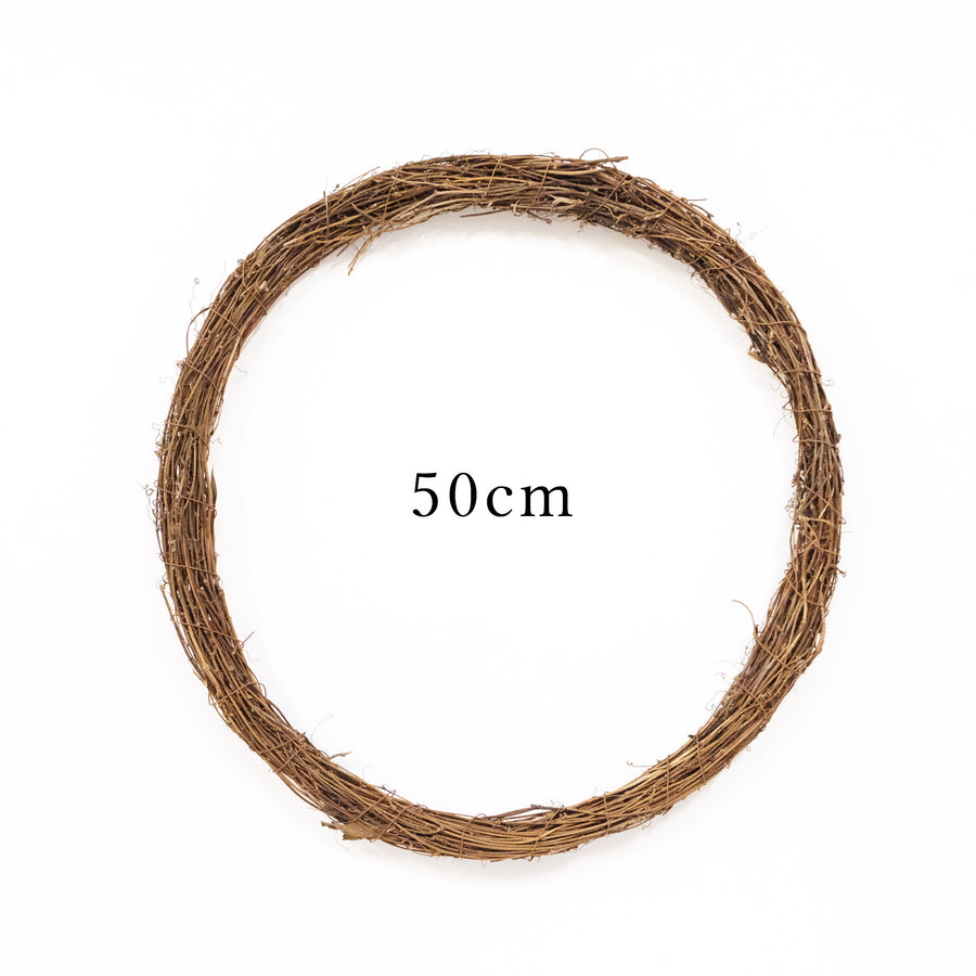 Brown Rattan Wreath