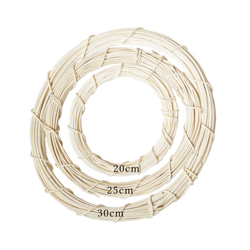 White Rattan Wreath