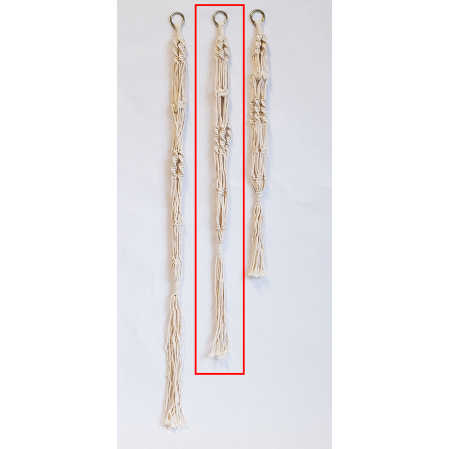 White Macrame Plant Hangers ( Set of 2 pieces/pack)