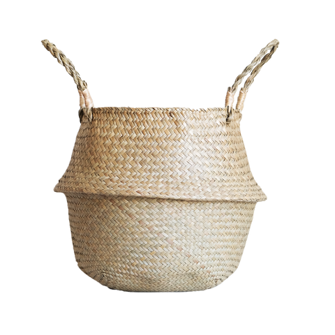 Sea Grass Woven Belly Basket