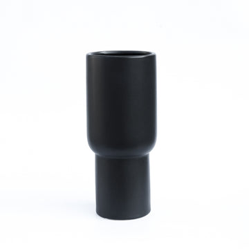 Black Matt Ceramic Tall Vase