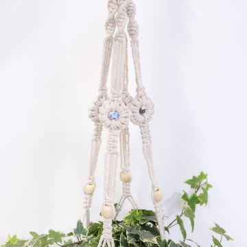 Macrame Plant Hangers with Tassels and Beads