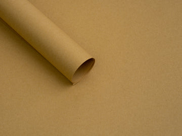 Brown Kraft Flower Wrapping Paper