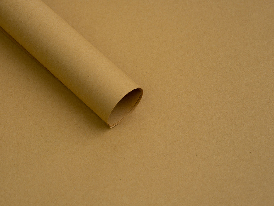 40 Pcs Brown Kraft Flower Wrapping Paper