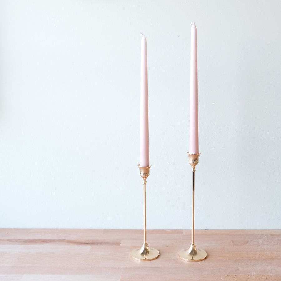 Blush Gold Candle Holders