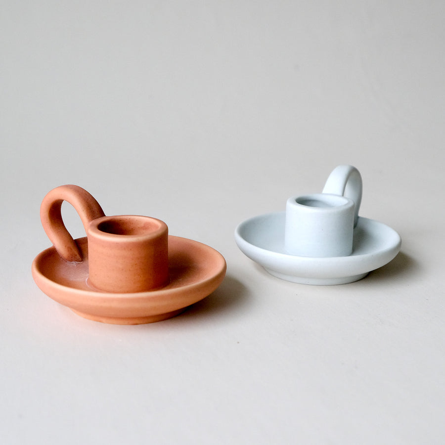 Mini Teacup Ceramic Taper Candle Holder