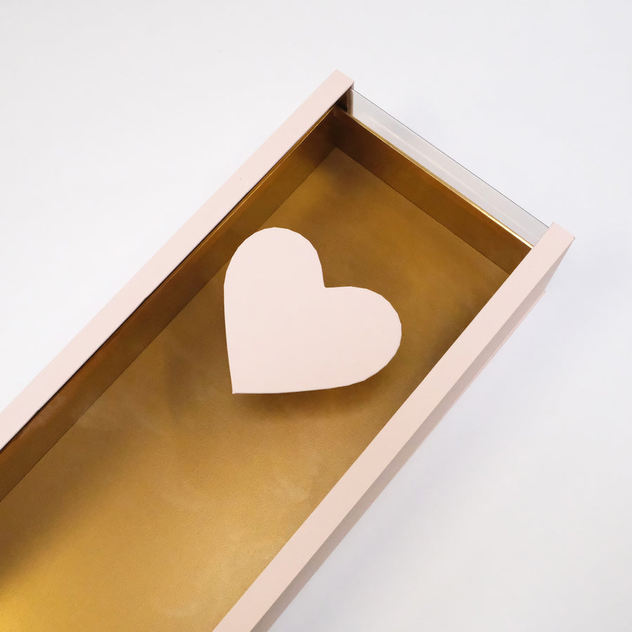 Long Flower Box with Heart Shape on Top