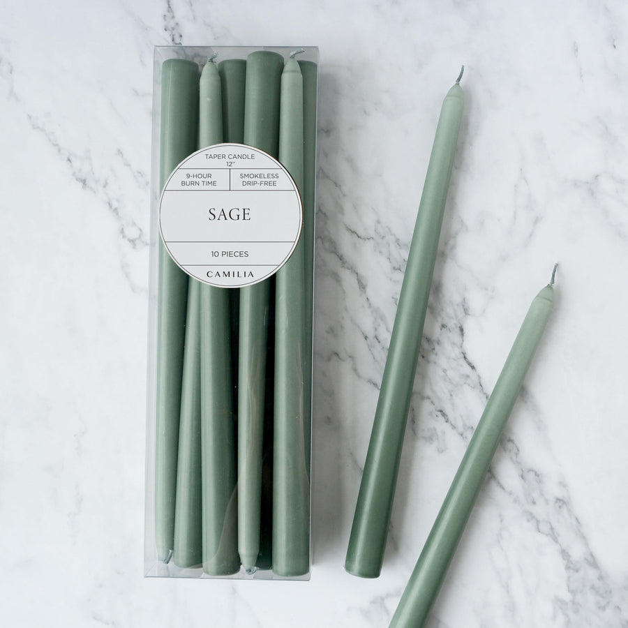 Sage Taper Candles