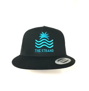 The Strand Trucker w/Teal Embroidery