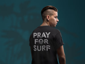 Pray For Surf S/S Black Tee