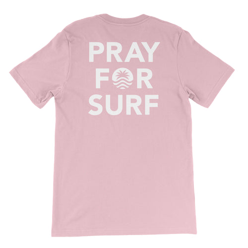 Pray For Surf S/S Pink Tee
