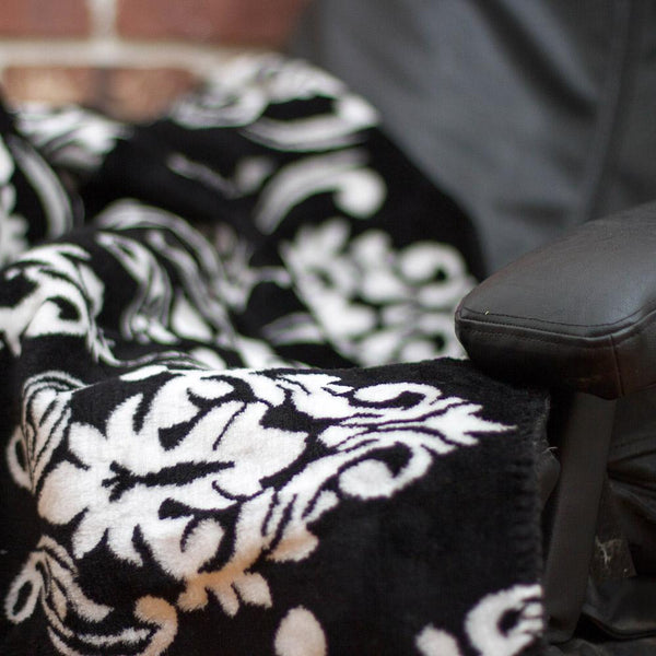 Black Medallion Denali Blanket - unique linens online