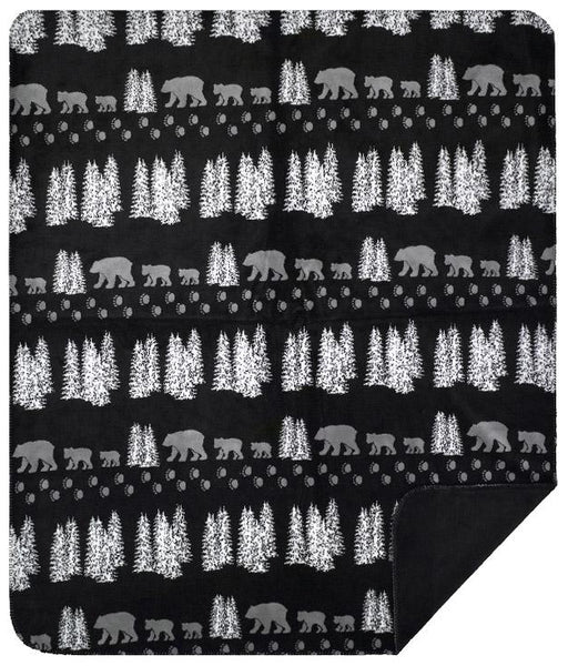 Black Denali Bear Denali Blanket - unique linens online